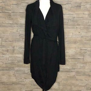 Hilary Radley black belted long cardigan